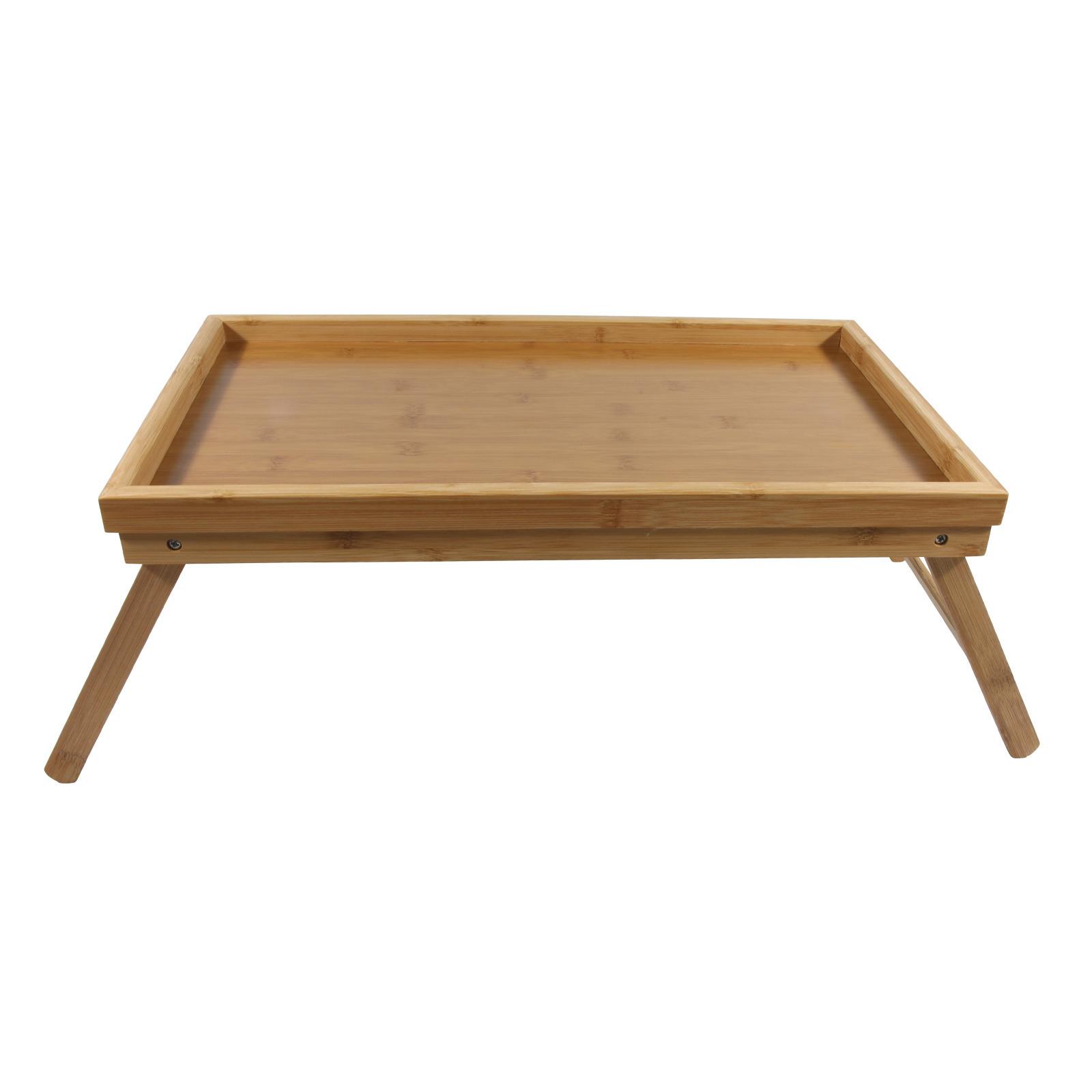 1x bamboe ontbijt op bed dienbladen tafeltjes 50 x 30 cm
