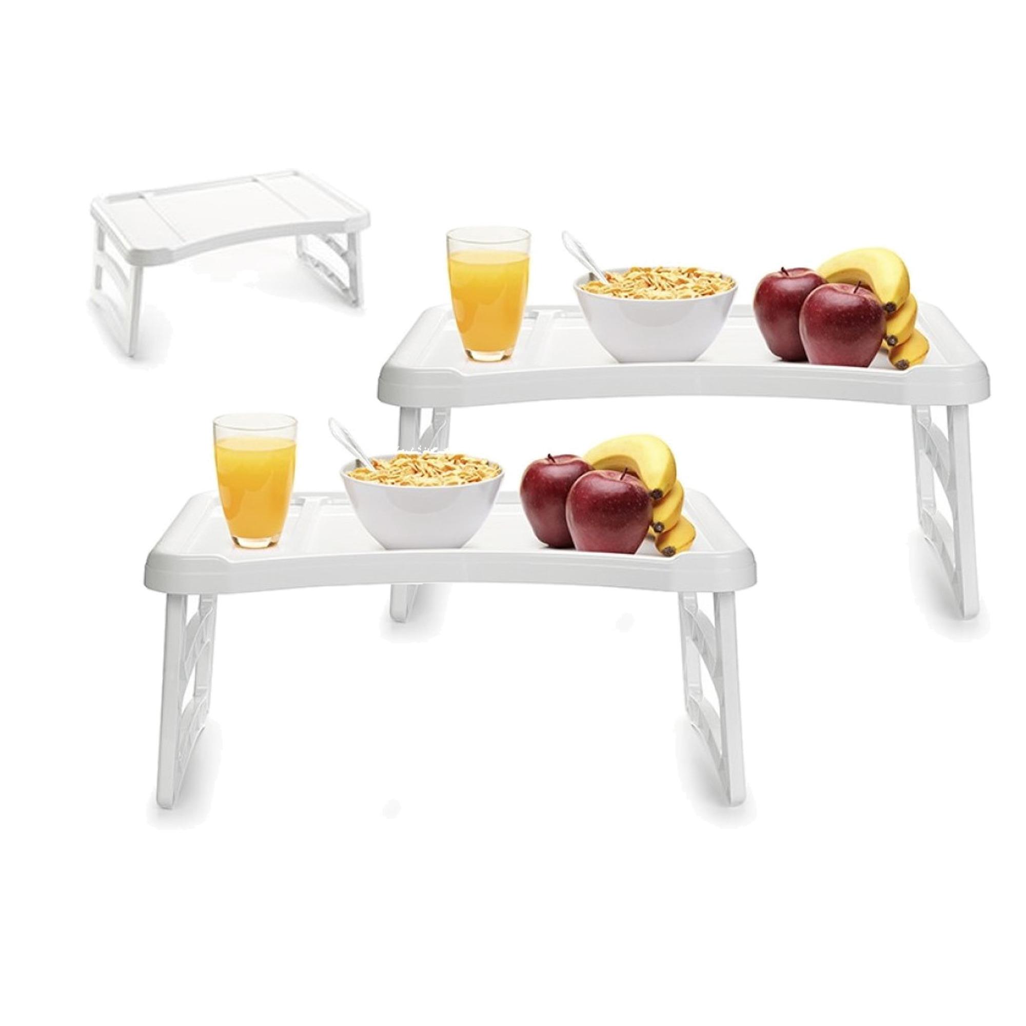 2x stuks ontbijt op bed dienblad tafeltjes 51 x 33 cm